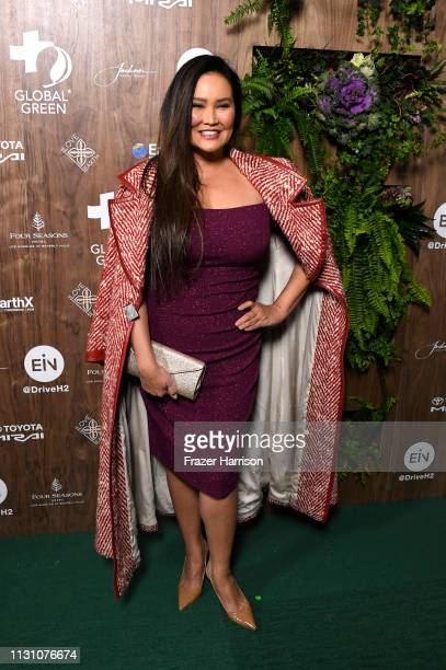 Tia Carrere attends the Global Green 2019 Pre-Oscar Gala at Four Seasons Hotel Los Angeles at Beverly Hills on February 20, 2019 in Los Angeles,...