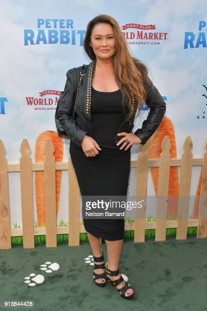 Tia Carrere attends the premiere of Columbia Pictures' 'Peter Rabbit' at The Grove on February 3 2018 in Los Angeles California