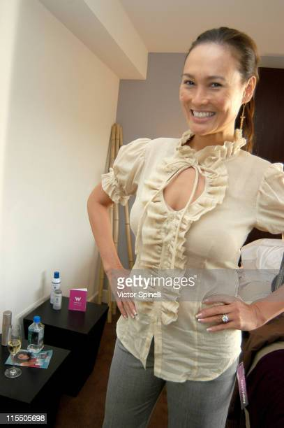 Tia Carrere during Alvin Valley Suite at the W Hotel Day 1 at W Hotel in Westwood California United States
