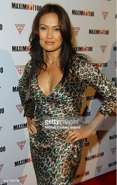 Tia Carrere during Maxim Hot 100 Party Arrivals at Yamashiro in Hollywood California United States
