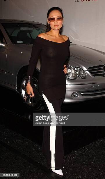 Tia Carrere during MercedesBenz Fall 2004 Fashion Week at Smashbox Studios Day 3 Arrivals at Smashbox Studios in Culver City California United States