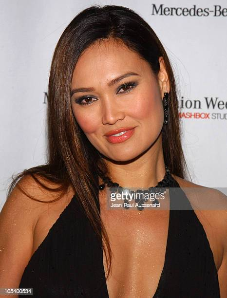 Tia Carrere during Mercedes-Benz Fall 2004 Fashion Week at Smashbox Studios - Day 4 - Arrivals at Smashbox Studios in Culver City, California, United...