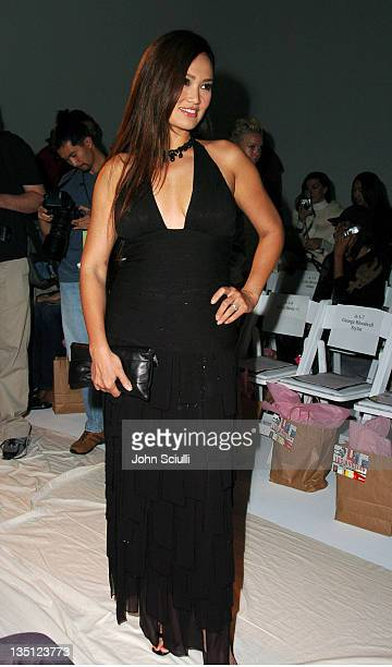 Tia Carrere during Mercedes-Benz Fall 2004 Fashion Week at Smashbox Studios - Tyler - Front Row and Backstage at Smashbox Studios in Culver City,...