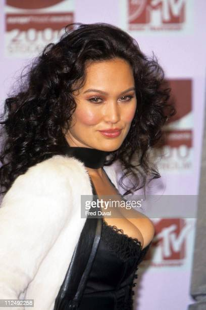 Tia Carrere during MTV 2000 Europe Awards at Stockholm in Stockholm Sweden