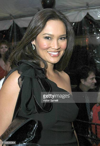 Tia Carrere during Palm Springs International Film Festival VIP PreAwards Dinner at Spencer's in Palm Springs California United States