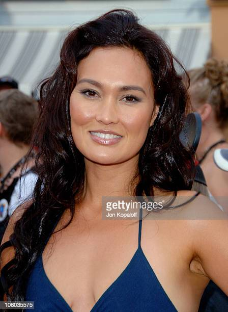 Tia Carrere during Pirates of the Caribbean Dead Man's Chest Los Angeles Premiere Arrivals at Disneyland/Main Street in Anaheim California United...