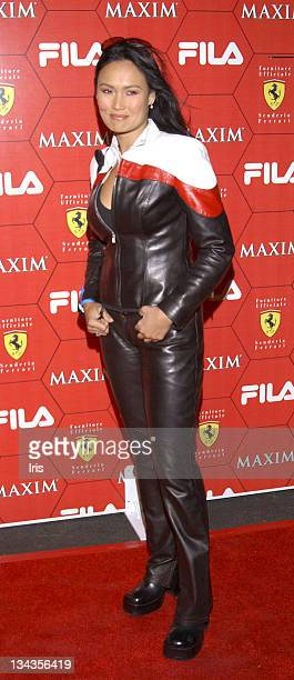 Tia Carrere during Seduction Of Speed Party Press Room at Pacific Design Center in Los Angeles CA United States