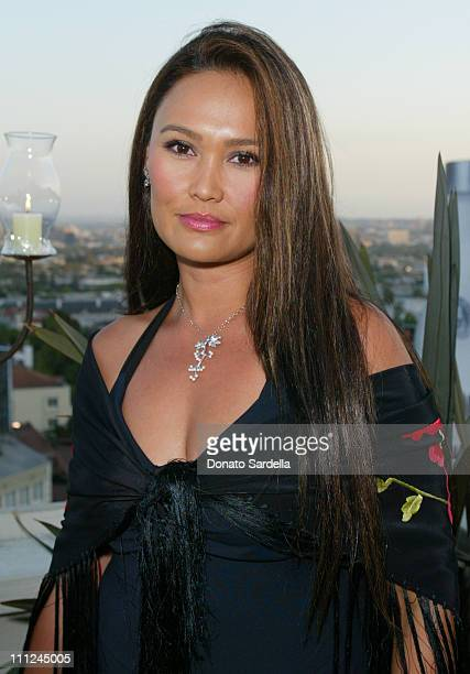 Tia Carrere during Sparkling Summer Night Viewing Of Suzanne Wilson's Dazzling Jewelry Designs at Chateau Marmont in West Hollywood California United...