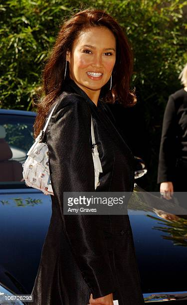 Tia Carrere during Step Up Women's Network and Lexus Presents Fashion Forward Featuring The Burberry Prorsum Spring & Summer 2004 Collection at...