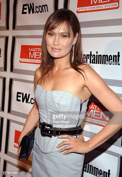 Tia Carrere during The Entertainment Weekly/Matrix Men Upfront Party Roaming and Arrivals at The Manor in New York City New York United States