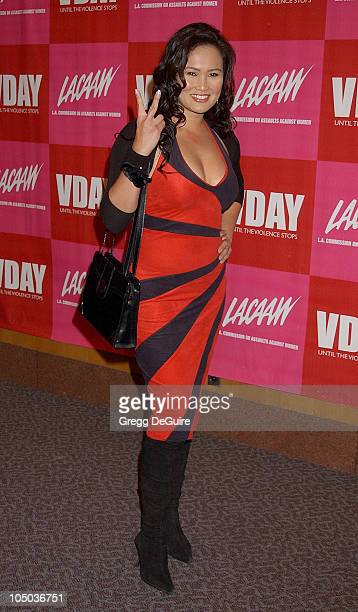 Tia Carrere during VDay LA 2003 at The Directors Guild Theatre in Los Angeles California United States
