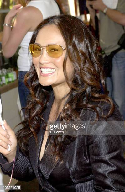 Tia Carrere visits Kenneth Cole sunglasses at the Cabana Beauty Buffet presented with Allure magazine