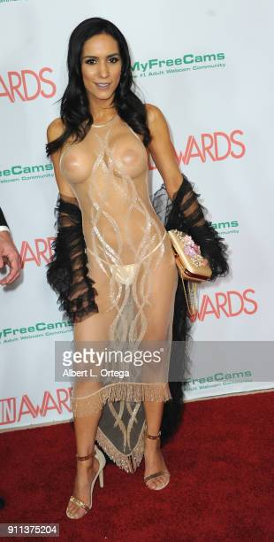 Tia Cyrus attends the 2018 Adult Video News Awards held at Hard Rock Hotel Casino on January 27 2018 in Las Vegas Nevada