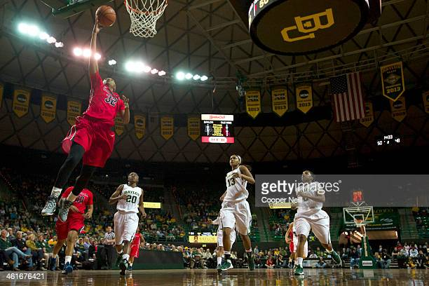 Tia Faleru of the Mississippi Lady Rebels drives to the basket against the Baylor Bears on December 18 2013 at the Ferrell Center in Waco Texas