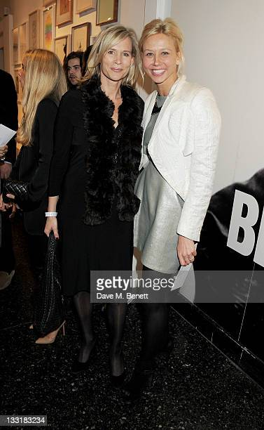 Tia Graham and Britt Lintner attend the UK Film Premiere of 'Beyond Time William Turnbull' at The Institute Of Contemporary Arts on November 17 2011...