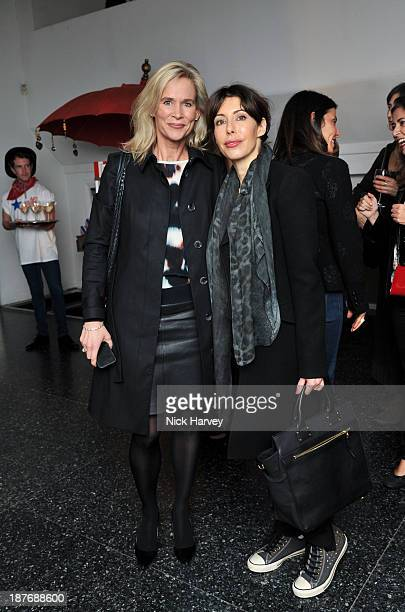 Tia Graham and guest attend the book launch of Art Studio America at ICA on November 11 2013 in London England