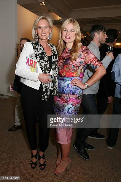 Tia Graham and Kate Bryan attend the Art15 Preview Night Freedom Audit Exhibition at Kensington Olympia on May 20 2015 in London United Kingdom