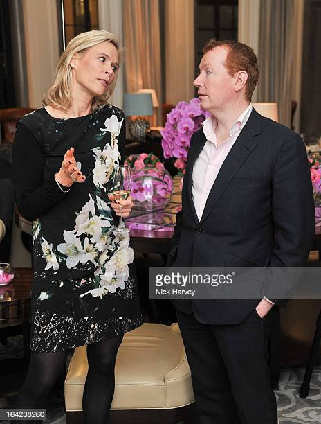 Tia Graham and Stephen Kirk attend the the VIP preview of the 'Above Beyond' series of unique theatrical performances at Corinthia Hotel London on...