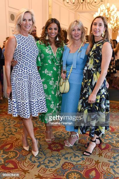 Tia Graham Katy Wickremesinghe Sigrid Kirk and guest attend the Foreign Sisters annual lunch held at The Landmark Hotel on May 10 2018 in London...