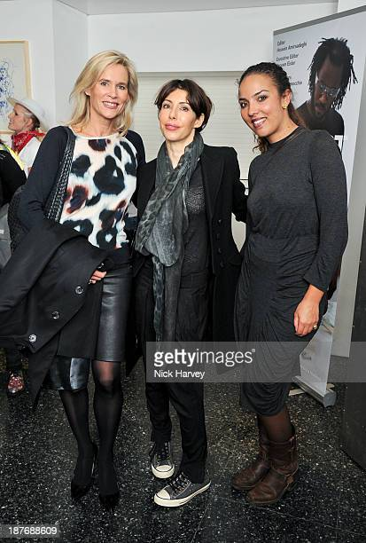 Tia Graham Princess Alia AlSenussi and guest attend the book launch of Art Studio America at ICA on November 11 2013 in London England