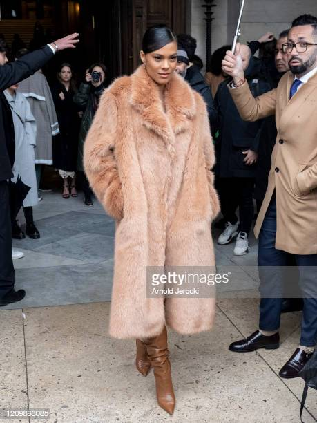 Tia Kunakey is seen during Paris Fashion Week Womenswear Fall/Winter 2020/2021 on March 02 2020 in Paris France