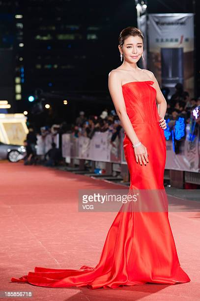 Tia Lee attends the red carpet of the 48th Golden Bell Award on October 25 2013 in Taipei Taiwan of China