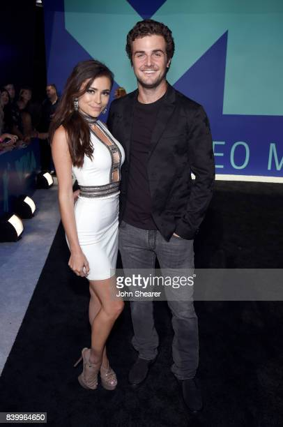 Tia McDonald and Beau Mirchoff attend the 2017 MTV Video Music Awards at The Forum on August 27 2017 in Inglewood California
