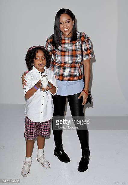 Tia Mowry and her son Cree Taylor Hardrict attend the Elizabeth Glaser Pediatric AIDS Foundation's 27th annual 'A Time For Heroes' at Smashbox...