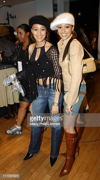 Tia Mowry and Tamera Mowry during Nike and Universal Music Present Nelly and St. Lunatics Post-American Music Award Party Co-Sponsored by Remy at...