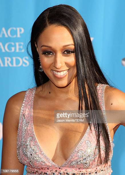 Tia Mowry arrives at the 39th NAACP Image Awards held at the Shrine Auditorium on February 14 2008 in Los Angeles California