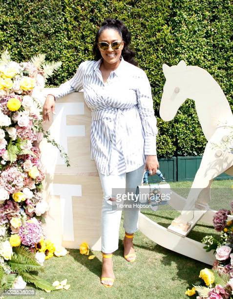 Tia Mowry attends a BackToSchool block party at The Park at The Grove on August 25 2018 in Los Angeles California
