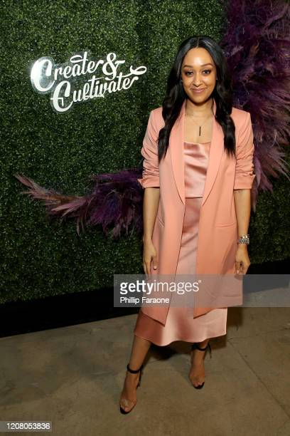 Tia Mowry attends Create & Cultivate Los Angeles at Rolling Greens Los Angeles on February 22, 2020 in Los Angeles, California.