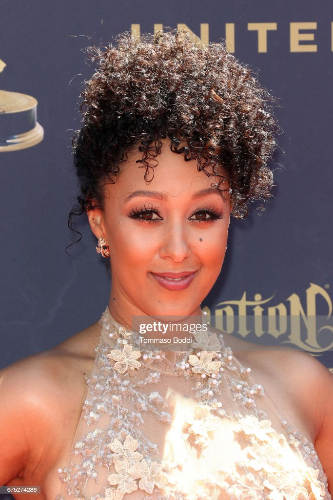 Tia Mowry attends the 44th Annual Daytime Emmy Awards at Pasadena Civic Auditorium on April 30, 2017 in Pasadena, California.