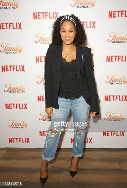 """Tia Mowry attends the Netflix """"Family Reunion"""" LA Screening at NETFLIX on June 24, 2019 in Los Angeles, California."""