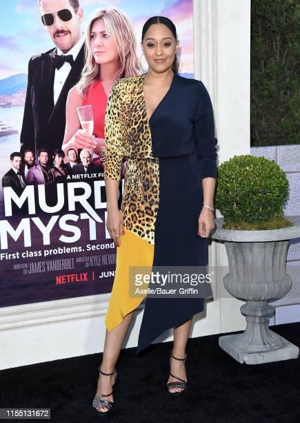 Tia Mowry attends the LA Premiere of Netflix's Murder Mystery at Regency Village Theatre on June 10 2019 in Westwood California