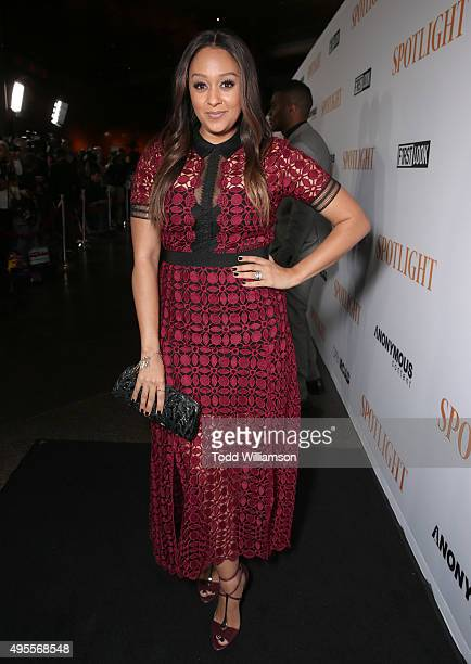 Tia Mowry attends the screening of Open Roads Films' 'Spotlight' on November 3 2015 in Los Angeles California