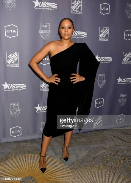 Tia Mowry attends the U.S.VETS Salute Gala on November 05, 2019 in Los Angeles, California.