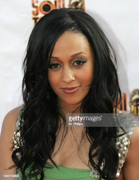 Tia Mowry during 21st Annual Soul Train Music Awards Arrivals at Pasadena Civic Center in Pasadena California United States