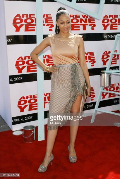 Tia Mowry during Are We Done Yet Los Angeles Premiere Arrivals at Manns Village Theater in Westwood California United States