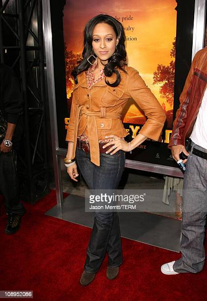 Tia Mowry during Stomp The Yard Premiere Red Carpet at Cinerama Dome in Hollywood California United States