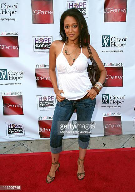 Tia Mowry during Young Hollywood Says 'Hope Rocks' Concert to Benefit City of Hope Arrivals at Key Club in Los Angeles California United States
