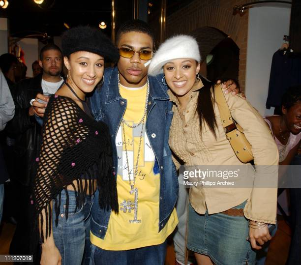 Tia Mowry Nelly and Tamera Mowry during Nike and Universal Music Present Nelly and St Lunatics PostAmerican Music Award Party CoSponsored by Remy at...