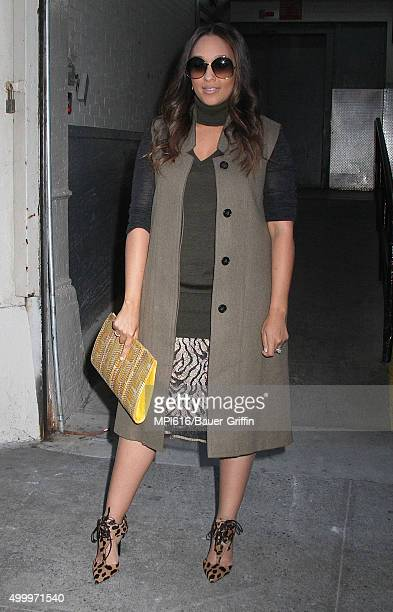 Tia Mowry spotted leaving 'HuffPost Live on December 04 2015 in New York City
