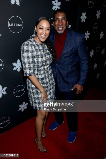 """Tia MowryHardrict and Stan Shaw attend It's a Wonderful Lifetime"""" first holiday party of the year at STK Los Angeles on October 22 2019 in Los..."""