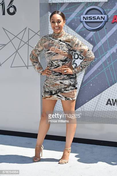 Tia MowryHardrict attends the BET awards at Microsoft Theater on June 26 2016 in Los Angeles California