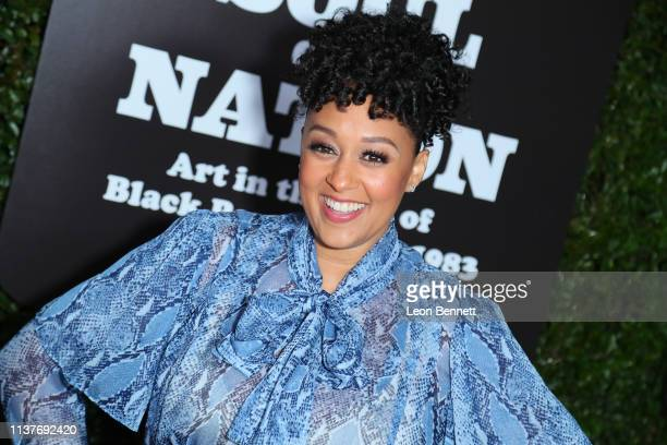 """Tia Mowry-Hardrict attends The Broad Hosts West Coast Debut Of """"Soul Of A Nation: Art In the Age Of Black Power 1963-1983"""" at The Broad on March 22,..."""