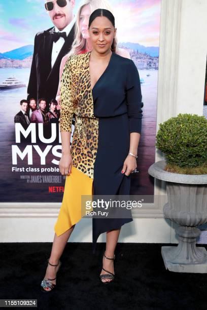 Tia MowryHardrict attends the LA premiere of Netflix's Murder Mystery at Regency Village Theatre on June 10 2019 in Westwood California