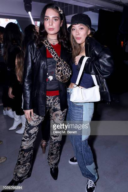 Tia O'Donnell and Jessica Alexander attend Timberland 45th Anniversary Exhibition Launch on November 8 2018 in London England