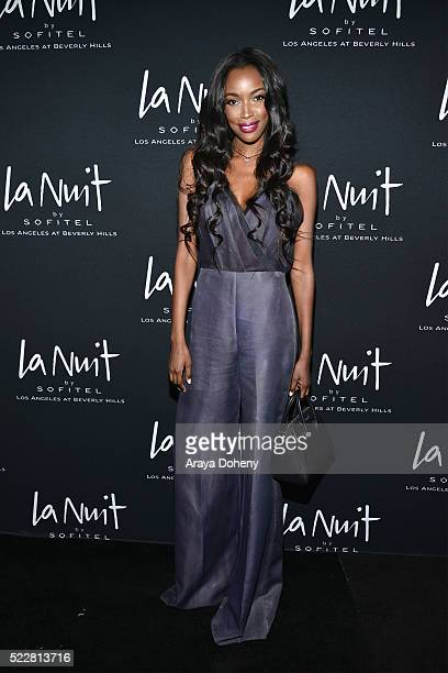 Tia Shipman attends LA NUIT by Sofitel Los Angeles at Beverly Hills at Sofitel Hotel on April 20 2016 in Los Angeles California