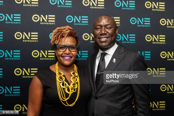Tia Smith, Exec. In Charge of Production and Sr. Dir. Of Programming and Production, TV One, and Benjamin Crump, ESQ., Evidence of Innocence host and...